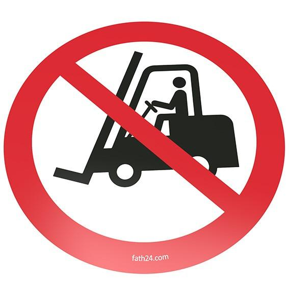 Floor-sign: Mandatory-, Prohibitive-, Warning-, Notice Sign - Floorsign with self-adhesive surface on the backside