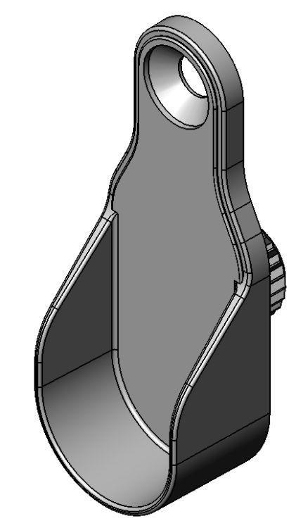 Schrankrohrlager - Zamak - 10mm Sternzapfen- 1 Bohrung - bla - Schrankrohrlager