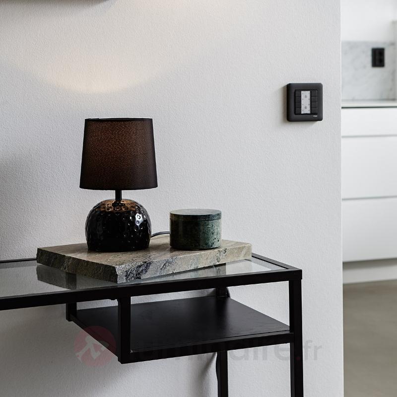 Petite lampe à poser Hammer noire - Lampes à poser en tissu