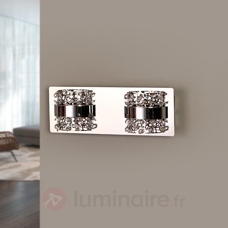 Kirika - applique LED avec cristaux, chromé - Appliques en cristal