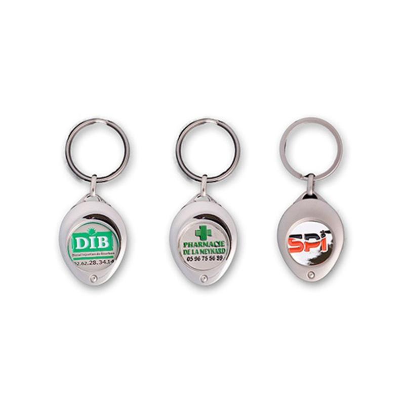 Porte-clés jeton attache ovale - Porte-clés métal