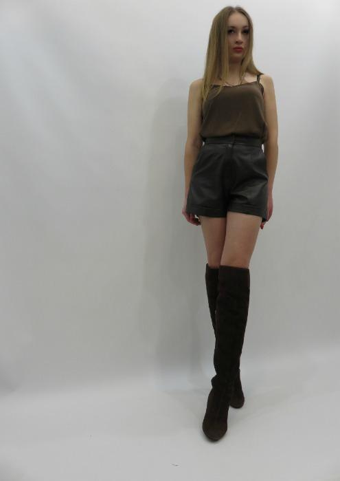Кожаные шорты - Шорты из натуральной кожи