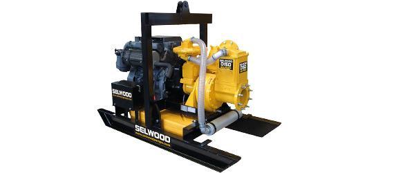 SELWOOD dry self-priming soiled water pumps - D range 75 to 200