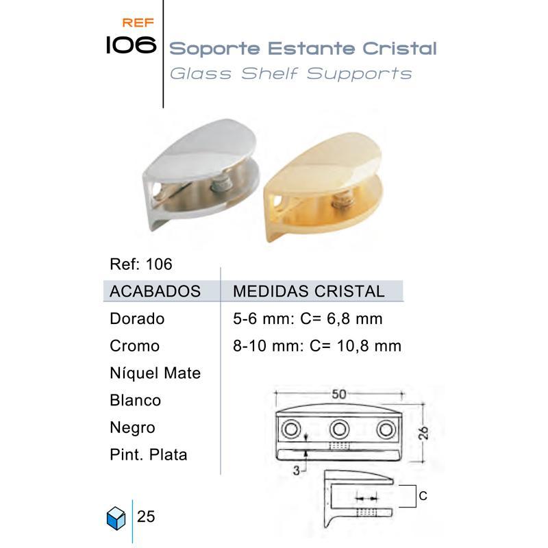 Soporte Estante Cristal 106