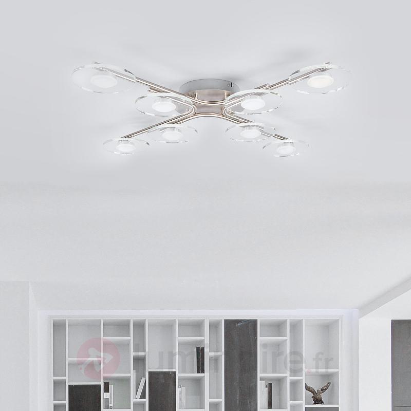 Luminaire pour cuisine LED croisé Tiam à 8 lampes - Plafonniers LED