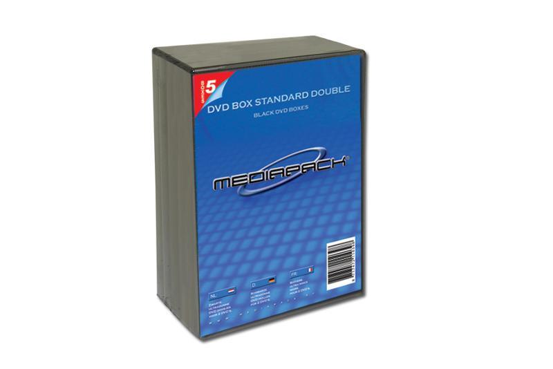 DVD Boxen 2-fach - 5er Pack - MPI - 14mm - schwarz - Retailverpackungen & Zubehör