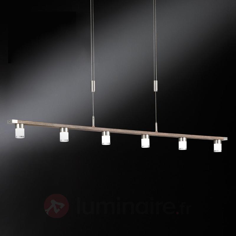 Suspension LED à six lampes à int. var. Forest - Cuisine et salle à manger