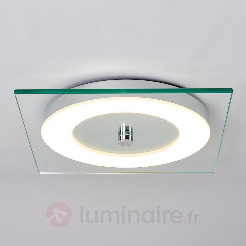 Plafonnier LED en verre Alara - Plafonniers LED