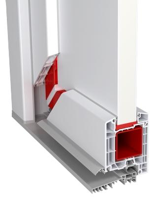 PVC-85 Entrance Door (PVC Door - Aluplast)
