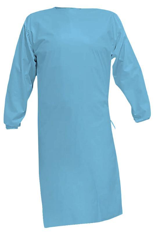 PU Schutzkittel, waschbar, zum binden, Farbe blau - Schutzkittel