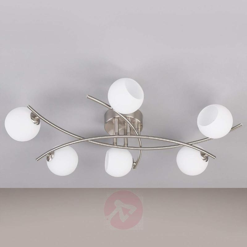 Opal glass ceiling light Muriel for living rooms - Ceiling Lights