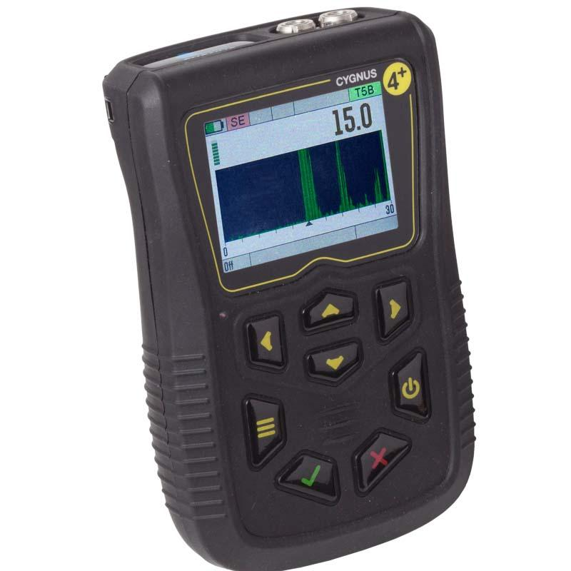 Cygnus 4+ General Purpose Ultrasonic Thickness Gauge - Hand Held Thickness Gauge with A-Scan & Data Logging