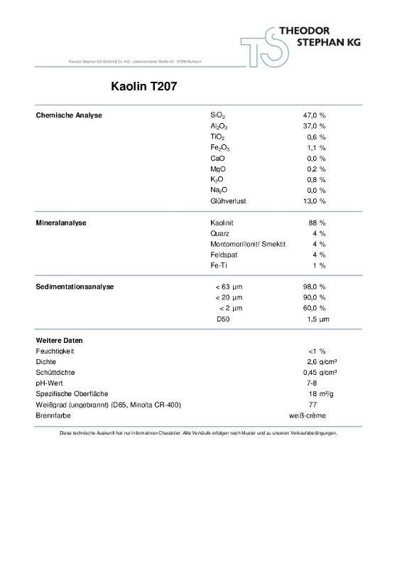 Kaolin T207 - null