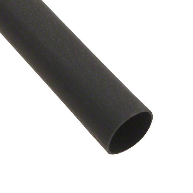 HEATSHRINK 1/4 IN X 4FT BLACK - Alpha Wire F221B1/4 BK100