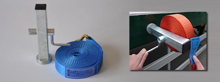 Magnet webbing roller  - For lashing webbing