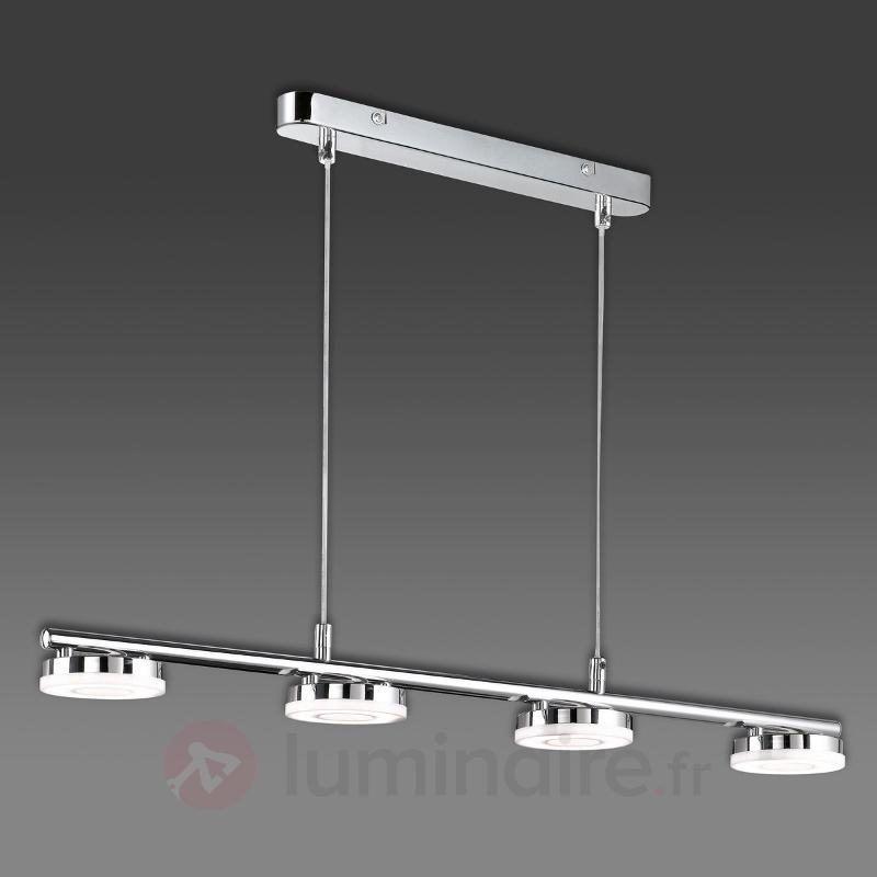 Suspension LED Rennes brillante à quatre lampes - Suspensions LED