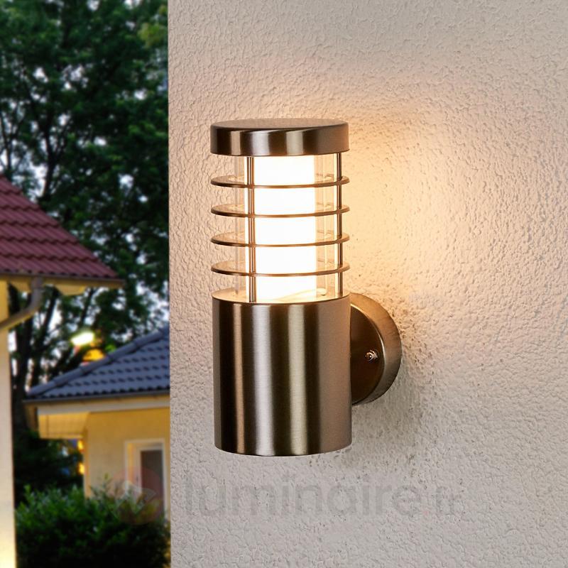 Applique d'extérieur LED Dila en inox - Appliques d'extérieur LED