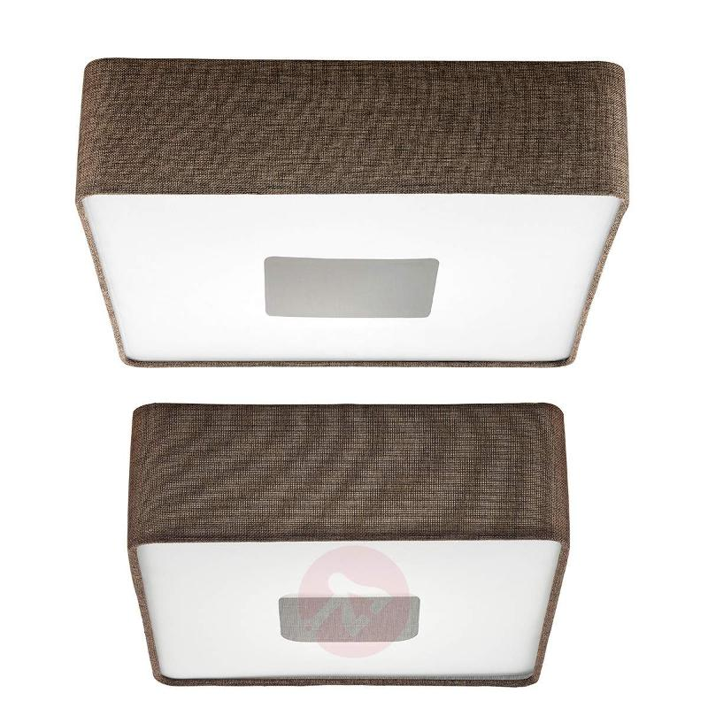 Square fabric LED ceiling light Tacuba - Ceiling Lights