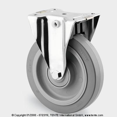 Roulettes en acier inoxydable - Roulette fixes, blocage centralisé, 8499UFX160P67 Q1-13