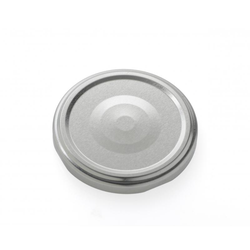 100 twist off caps Silver TO 48 mm for sterilization with Flip - SILVER