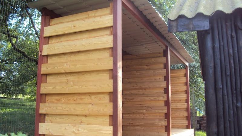 Abris à bois en bois, Habillage en mélèze de Sibérie, AMBIANCE BOIS ...