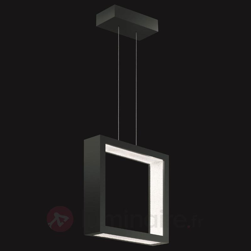 Suspension cristal LED Revealed Open, noir - Suspensions en cristal
