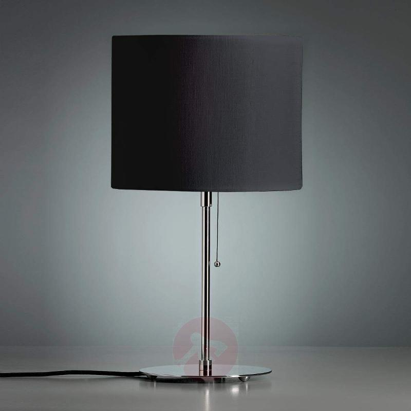Table lamp with a coloured linen lampshade - Table Lamps