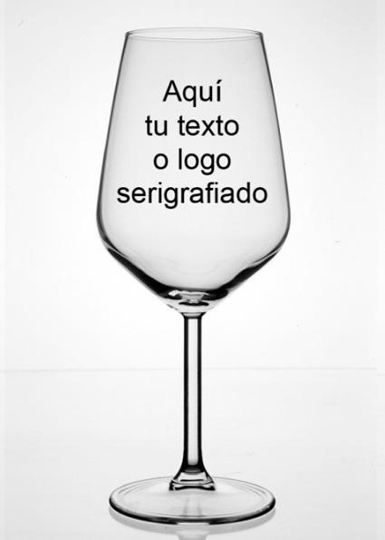 copa degustación vinos personalizada con su texto - Copa de cristal de Capacidad:49 CL personalizable con su logo o texto.