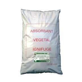 VEGESORB.SID sac 40 L Absorbant végétal - Absorbant végétal ignifugé à usage industriel