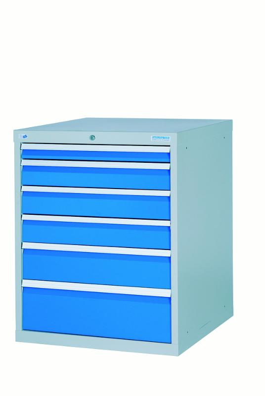 Drawer cabinet with 6 drawers, different front heights - 780/1311V10A