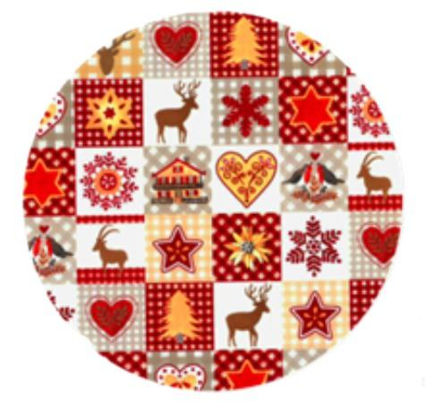 Christmas Theme Paper Plate - Deer, Heart Christmas Tree Design