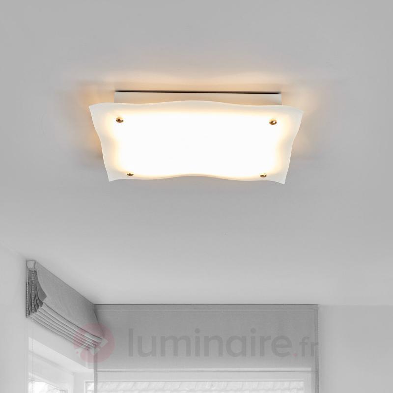 Plafonnier ondulé LED Kiliana en verre - Plafonniers LED