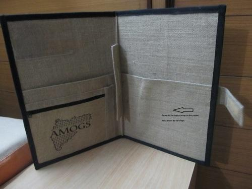 Jute File Folder  - 100 % Jute fabrics, Jute File Folder