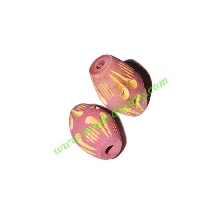 Wooden Carved Beads, size 16x25mm, weight approx 2.15 grams - Wooden Carved Beads, size 16x25mm, weight approx 2.15 grams