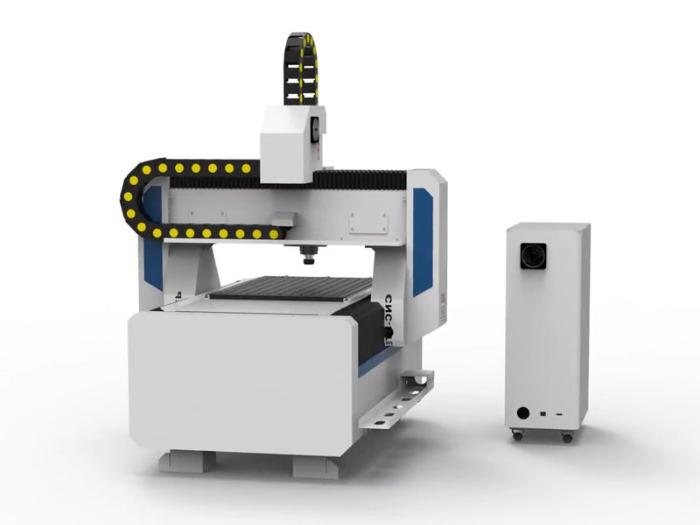 CNC Router with servo motors T-Rex Servo-0615 - CNC Router with toothed racks, vacuum table and pleat coverings