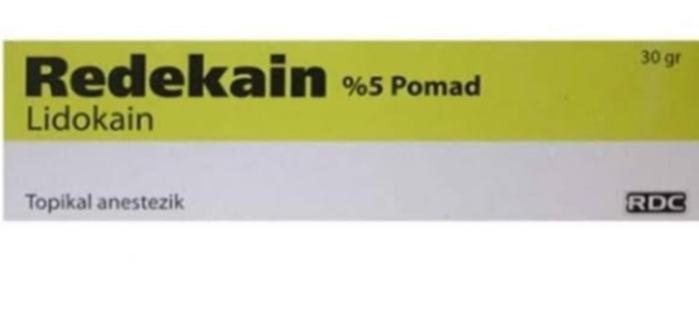 Redekain - %5 Pomad Lidokain Topikal anestezik