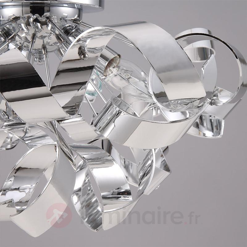 Plafonnier chromé décoratif Elviro - Plafonniers chromés/nickel/inox