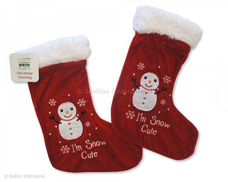 Baby Christmas Stocking - Snowman - Gift Sets