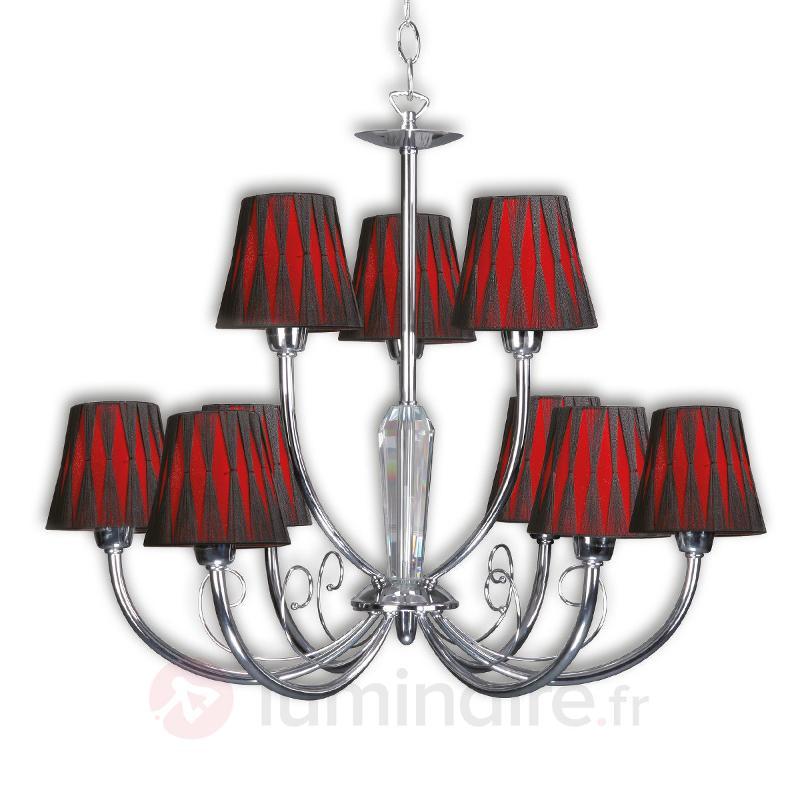Lustre moderne Borgia avec abat-jour 9 lampes - Lustres à abat-jour