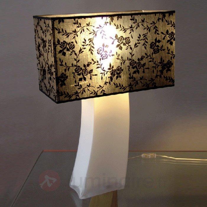 Charmante lampe à poser ANNA pied opale - Lampes à poser en tissu