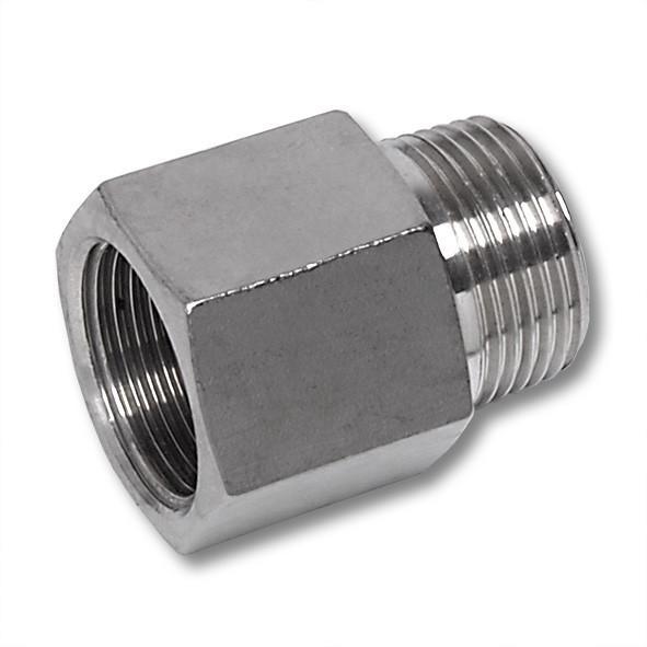 NiroSan® Threaded hexagon adaptor, f/m thread - NiroSan® Threaded hexagon adaptor, f/m thread