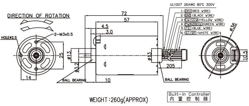 BLDC3657 - Brushless DC Motor