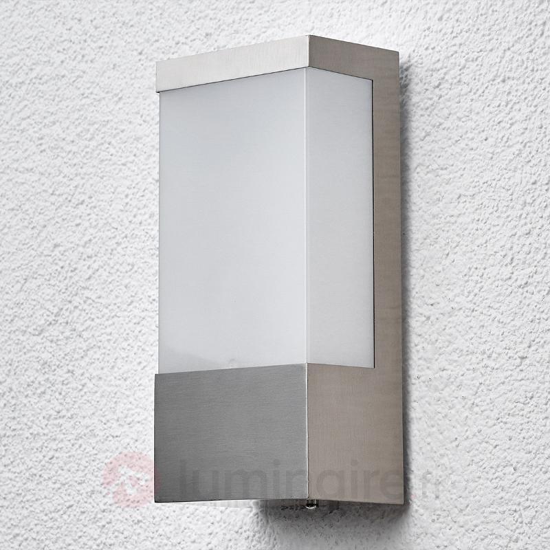 Applique d'extérieur carrée LED Kirana en inox - Appliques d'extérieur inox