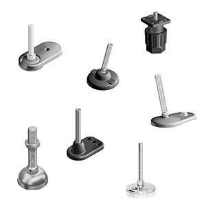 Adjustable feet mechanical engineering - Machine feet / various materials / level / fixed