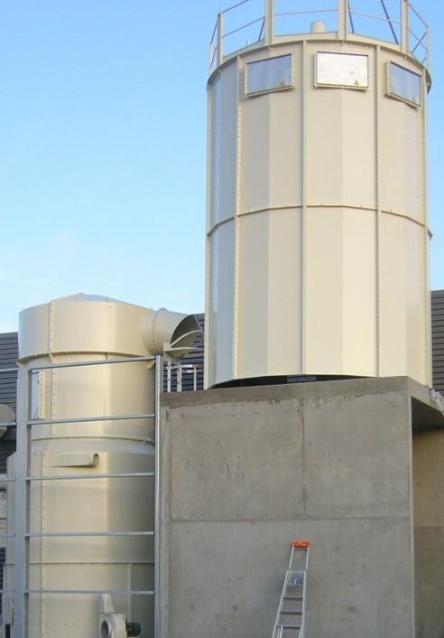 Silos - Dans une installation globale de dépoussiérage, filtration et stockage