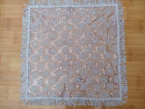 Domestic craft tablecloth(white, black)