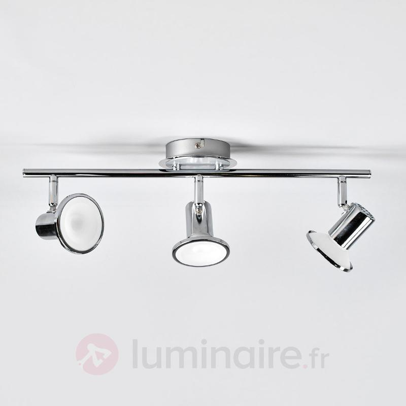 Plafonnier LED chromé brillant Charley - Plafonniers LED