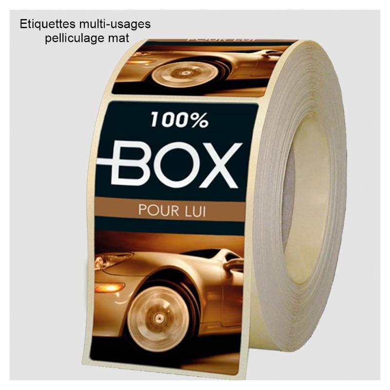 Etiquettes multi-usages pelliculées - Etiquettes personnalisées multi-usages et synthétiques
