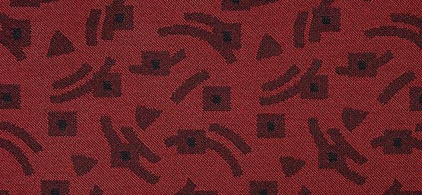 sortiment - rot mit schw. Mustern, kaschiert 002X6015