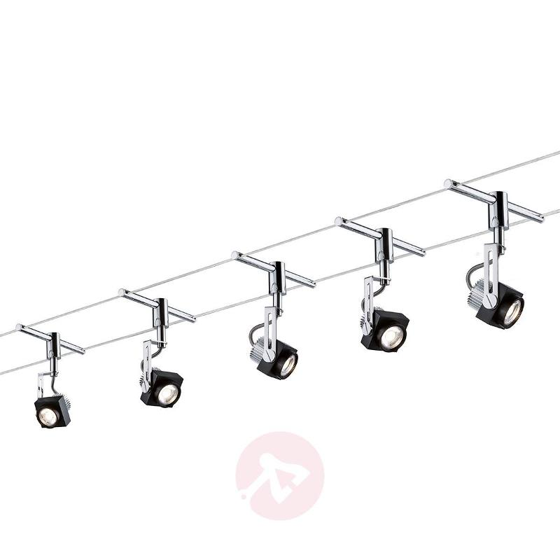 five bulb led cable system phase complete cable lighting kits